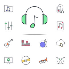 headphones with music icon. web icons universal set for web and mobile