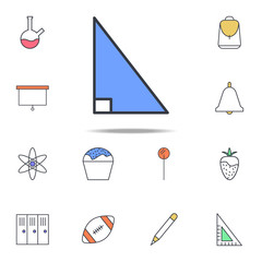 right triangle icon. web icons universal set for web and mobile