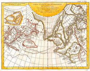 Fototapete - 1772, Vaugondy and Diderot Map of the Pacific Northwest and the Northwest Passage