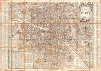 Fotomurales - 1780, Esnauts and Rapilly Case Map of Paris