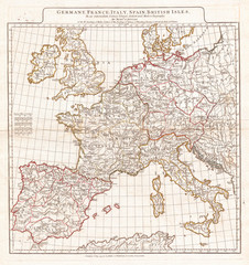 Wall Mural - 1794, Anville Map of Europe in late Roman times