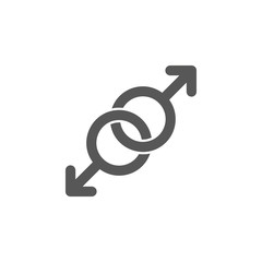 Gays, spear of mars, love icon. Simple glyph, flat vector of valentines day, love icons for UI and UX, website or mobile application