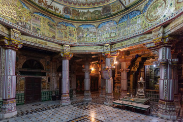 Temple interior in Bikaner, India