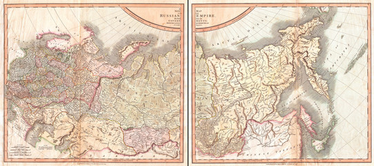 1799, Cary Map of the Russian Empire, John Cary, 1754 – 1835, was an English cartographer, John Cary, 1754 – 1835, English cartographer