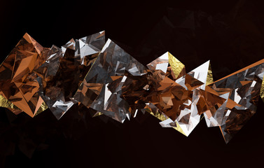 Gold and brown dimond
