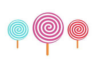 Candy set icon delicious vector illustration design