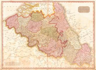 1818, Pinkerton Map of Beligum, John Pinkerton, 1758 – 1826, Scottish antiquarian, cartographer, UK