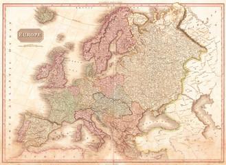 1818, Pinkerton Map of of Europe, John Pinkerton, 1758 – 1826, Scottish antiquarian, cartographer, UK