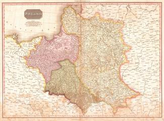 1818, Pinkerton Map of Poland, John Pinkerton, 1758 – 1826, Scottish antiquarian, cartographer, UK