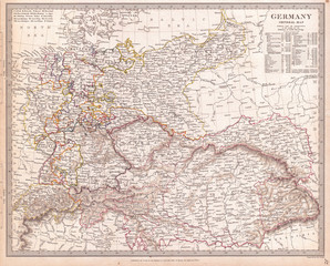 1840, S.D.U.K. Map of Germany