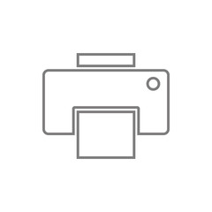 fax icon. Element of cyber security for mobile concept and web apps icon. Thin line icon for website design and development, app development