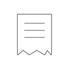 torn document icon. Element of cyber security for mobile concept and web apps icon. Thin line icon for website design and development, app development