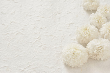 White paper with flowers
