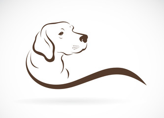 Vector of dog head(labrador) on white background., Pet. Animals. Easy editable layered vector illustration.