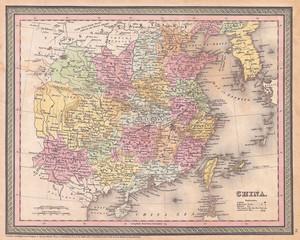 1853, Mitchell Map of China