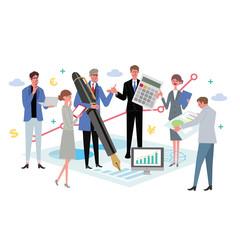 ビジネスコンセプト イラスト チームワーク 会議 プロフェッショナル