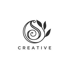 The letter S, Beautiful vector logo design inspiration