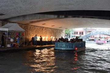 Riverboat on the Riverwalk in San Antonio, Texas