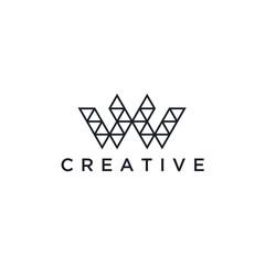W Logo.W Letter Design Vector Illustration Modern Monogram Icon.