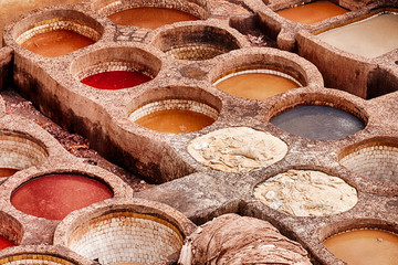 Dye Vats In the Fes Tannery