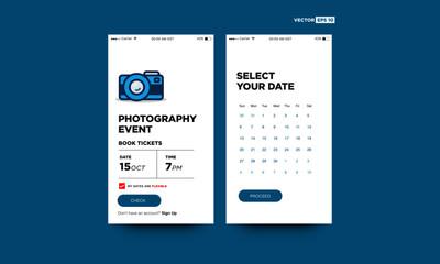 Photography Event Festival App Interface Design