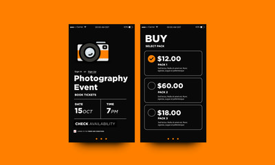 Photography Event Festival App Interface Design