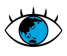 瞳に映る地球