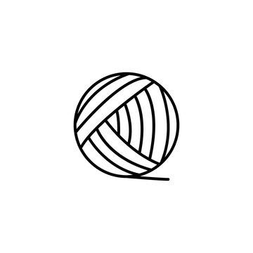 ball yarn icon vector