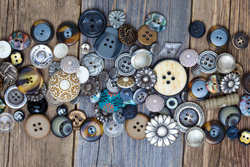 set of vintage buttons