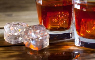 ice and whisky,