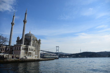The Ortakoy Mosque in Istanbul