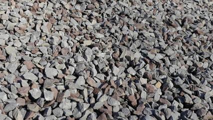 Granitsplitt Nahaufnahme Baustoffe
