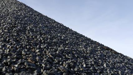 Rohstoff Granitsplitt Baustoff