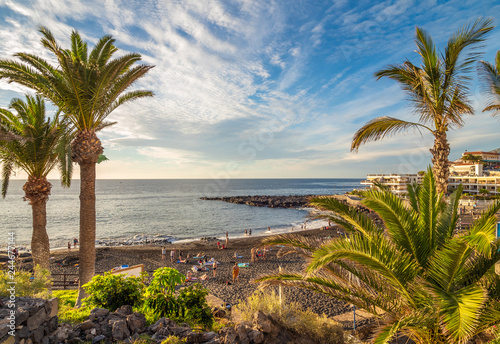 Wall mural Landscape with Arena beach, Tenerife, Canary island, Spain