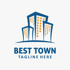 Town buliding logo design