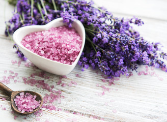 Lavender spa salt