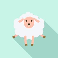 Shocked sheep icon. Flat illustration of shocked sheep vector icon for web design