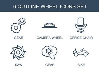 6 wheel icons
