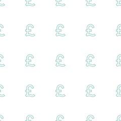 pound icon pattern seamless white background