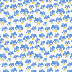 Pansy Flower Pattern. Endless Background. Seamless