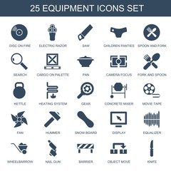 25 equipment icons