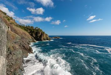 Mediterranean Sea and Coast in Framura Liguria Italy