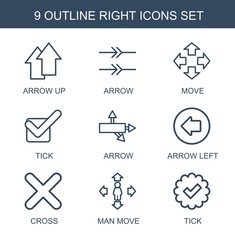right icons