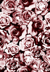 Rose pattern,seamless with effect on it.