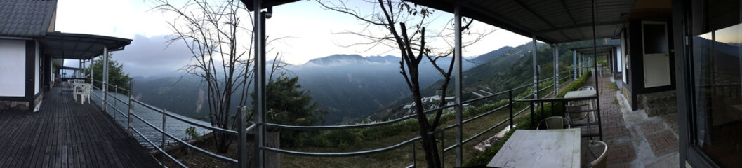 Outside Home stay early morning foggy mountain view