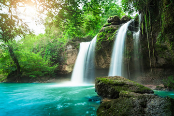 Haew Suwat Waterfall at Khao Yai National Park, Thailand   Wall mural