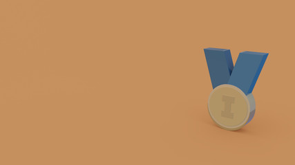 3d icon of medal