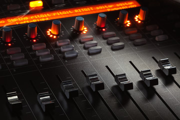 Modern Mixing Console