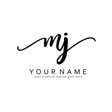 A A Handwriting initial logo template vector