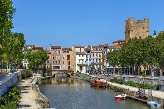 Canal de la Robine, Narbonne, France